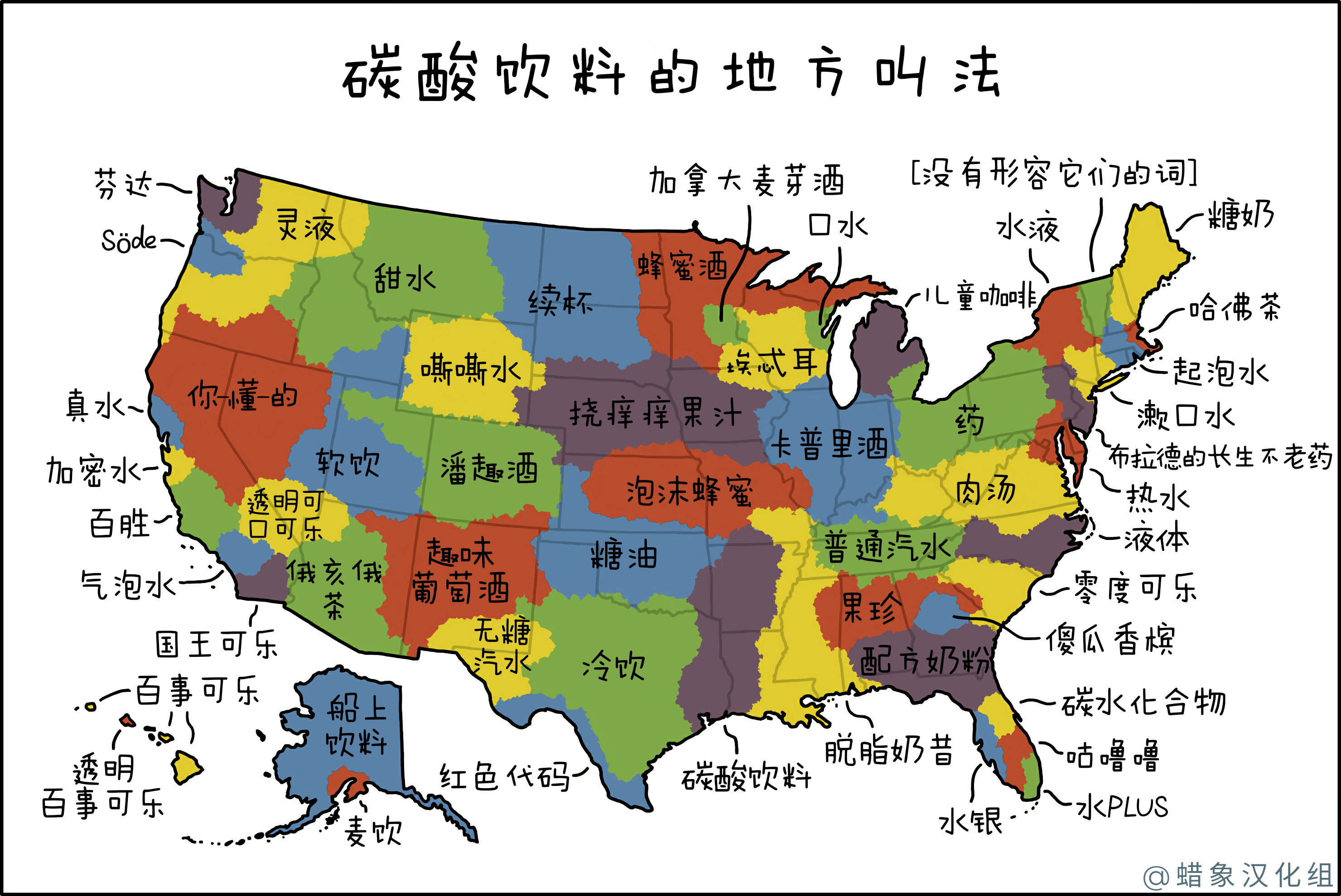碳酸饮料名称地图